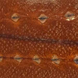 Diamond Sturgeon leather cognac brown