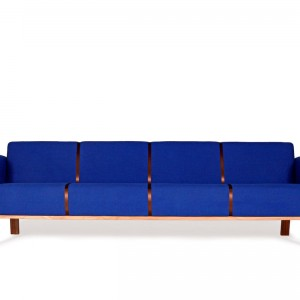 Brad retro design sofa blue - VanDen Collection
